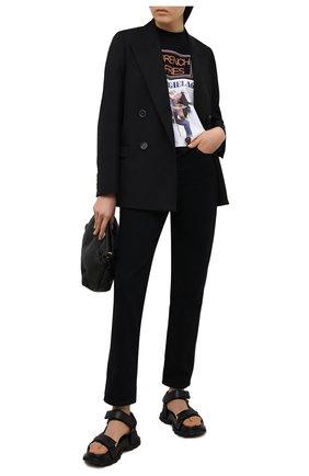 Женская хлопковая футболка MM6 черного цвета, арт. S52GC0174/S23588 | Фото 2