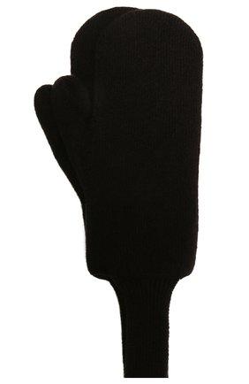 Женские шерстяные варежки BOTTEGA VENETA темно-коричневого цвета, арт. 653594/3V00M | Фото 2