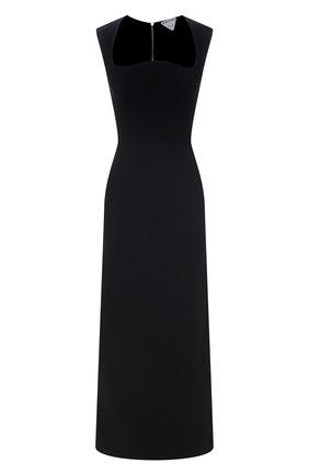 Женское платье из вискозы BOTTEGA VENETA черного цвета, арт. 652071/V0000   Фото 1