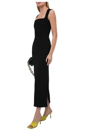 Женское платье из вискозы BOTTEGA VENETA черного цвета, арт. 652071/V0000 | Фото 2