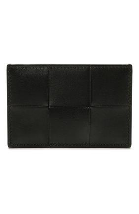 Женский кожаный футляр для кредитных карт BOTTEGA VENETA черного цвета, арт. 651401/VCQC4   Фото 1