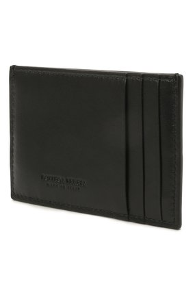 Женский кожаный футляр для кредитных карт BOTTEGA VENETA черного цвета, арт. 651401/VCQC4   Фото 2