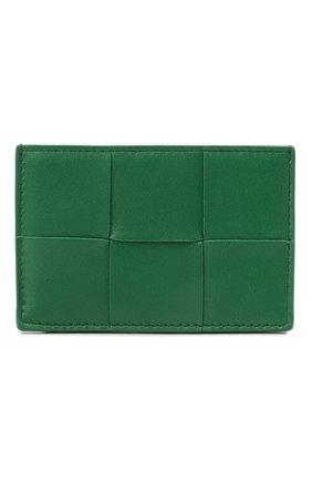 Женский кожаный футляр для кредитных карт BOTTEGA VENETA зеленого цвета, арт. 651401/VCQC4   Фото 1