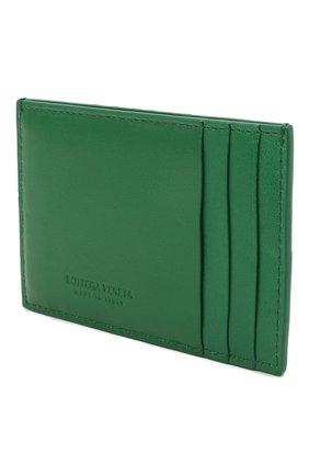 Женский кожаный футляр для кредитных карт BOTTEGA VENETA зеленого цвета, арт. 651401/VCQC4   Фото 2
