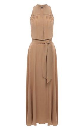 Женское шелковое платье KITON бежевого цвета, арт. D51326K05T49 | Фото 1