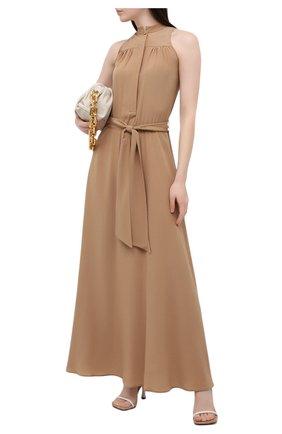 Женское шелковое платье KITON бежевого цвета, арт. D51326K05T49 | Фото 2