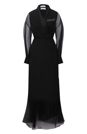 Женское шелковое платье BRUNELLO CUCINELLI черного цвета, арт. MF940ADP81 | Фото 1