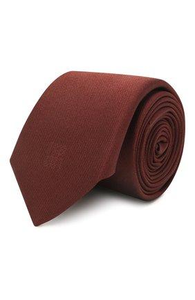 Мужской шелковый галстук BOSS бордового цвета, арт. 50452355   Фото 1