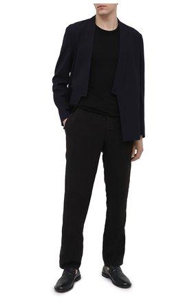 Мужские кожаные лоферы PANTANETTI темно-синего цвета, арт. 14434E/GUELF0 | Фото 2