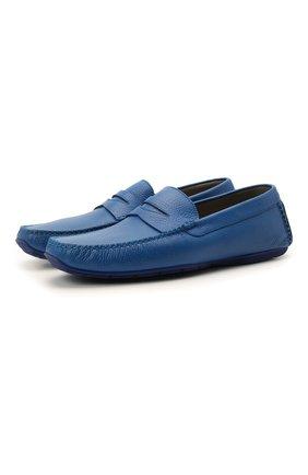 Мужские кожаные мокасины ALDO BRUE синего цвета, арт. AB0005.VP.P.P   Фото 1