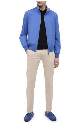 Мужские кожаные мокасины ALDO BRUE синего цвета, арт. AB0005.VP.P.P   Фото 2