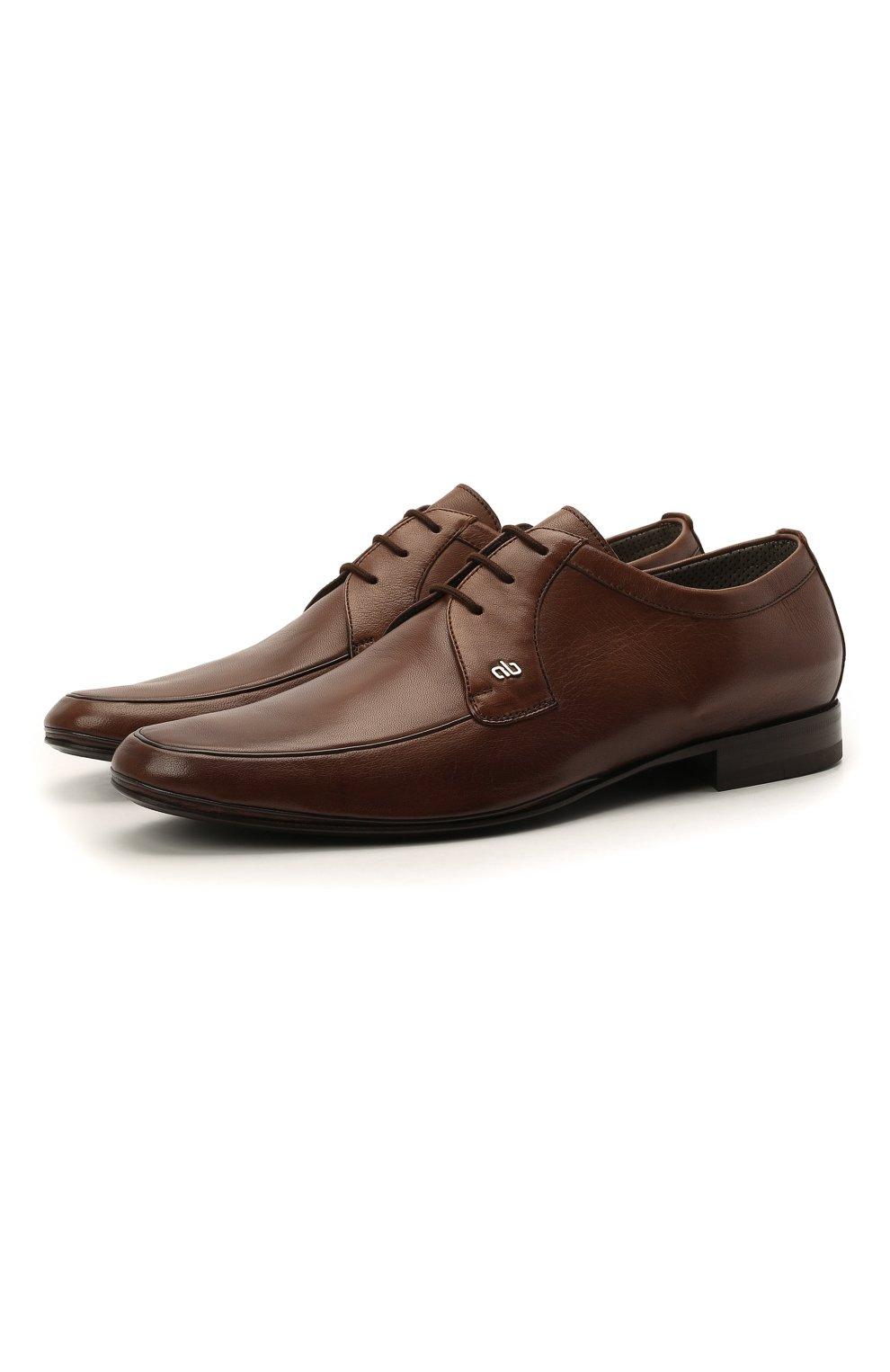 Мужские кожаные дерби ALDO BRUE коричневого цвета, арт. AB7015.MP.P.16CF   Фото 1 (Материал внутренний: Натуральная кожа; Стили: Классический)