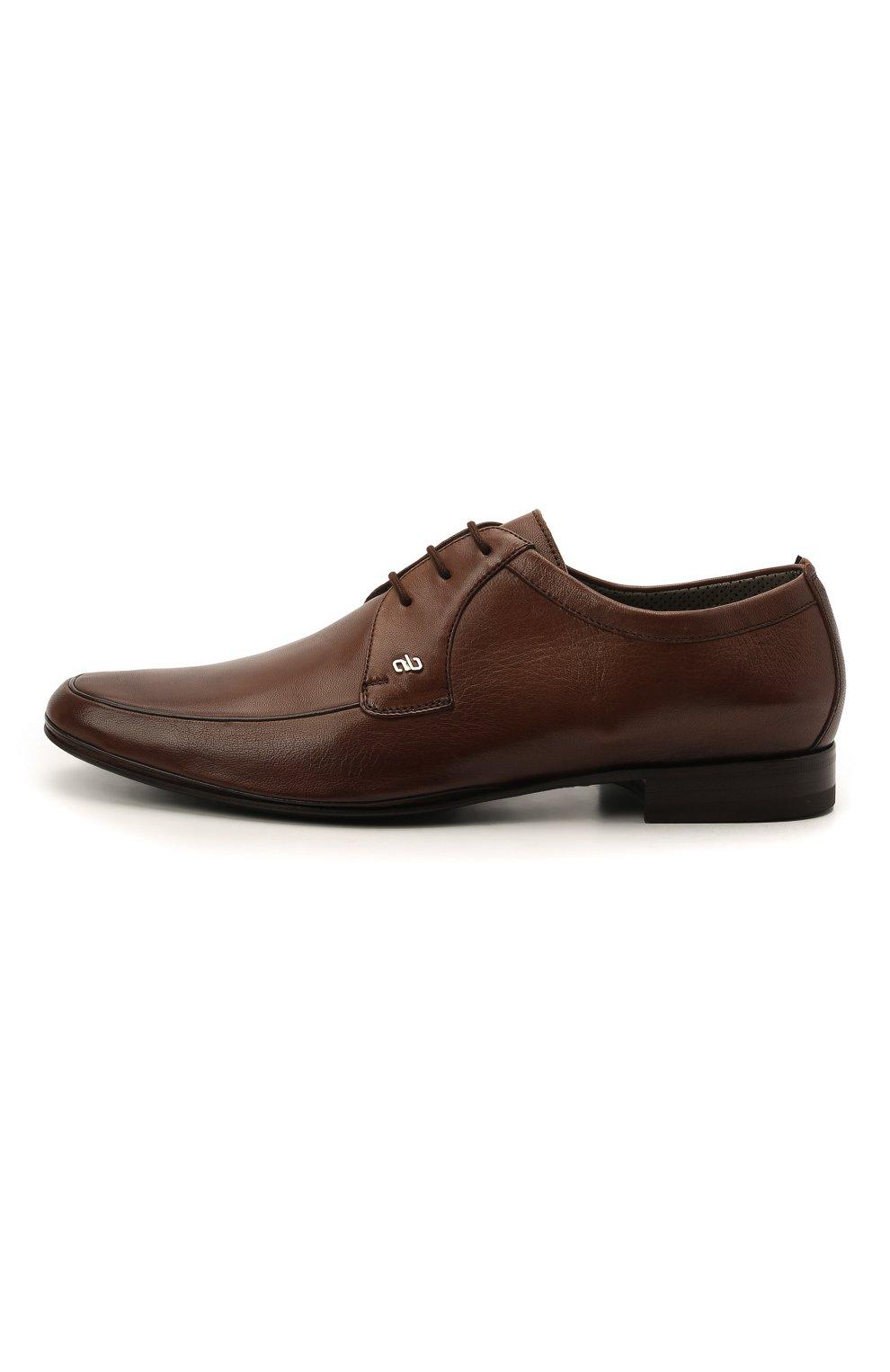 Мужские кожаные дерби ALDO BRUE коричневого цвета, арт. AB7015.MP.P.16CF   Фото 3 (Материал внутренний: Натуральная кожа; Стили: Классический)