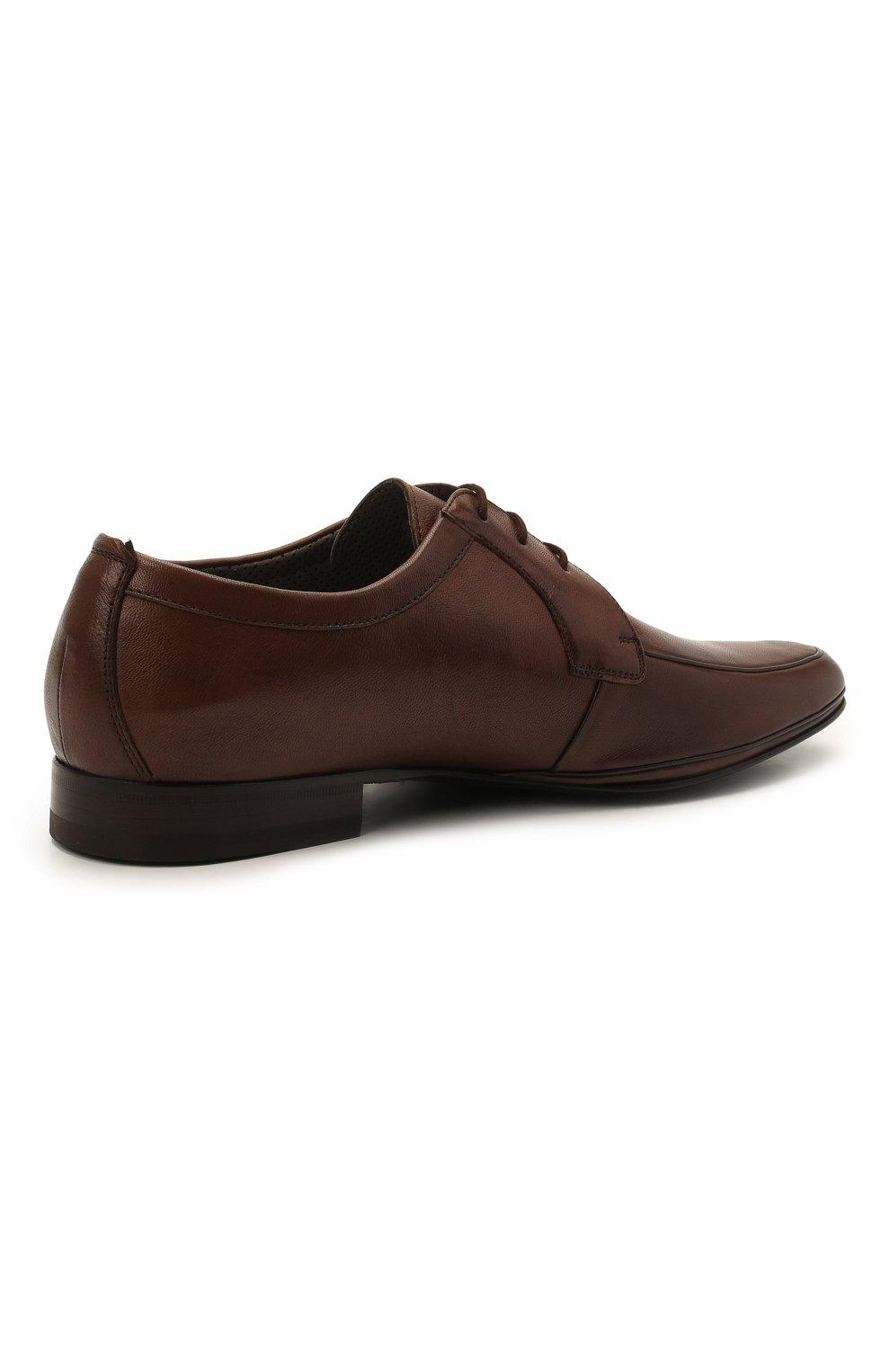 Мужские кожаные дерби ALDO BRUE коричневого цвета, арт. AB7015.MP.P.16CF   Фото 4 (Материал внутренний: Натуральная кожа; Стили: Классический)