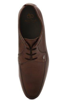 Мужские кожаные дерби ALDO BRUE коричневого цвета, арт. AB7015.MP.P.16CF   Фото 5 (Материал внутренний: Натуральная кожа; Стили: Классический)