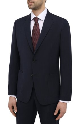 Мужской шерстяной костюм Z ZEGNA темно-синего цвета, арт. 924737/2X7YGX | Фото 2