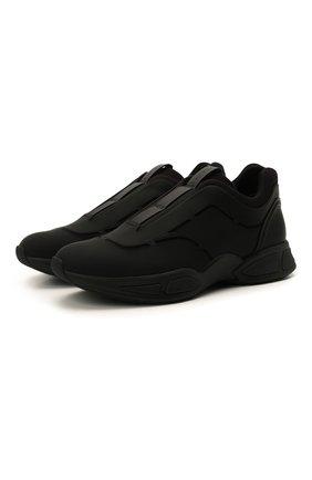 Мужские кожаные кроссовки sprinter Z ZEGNA черного цвета, арт. A4964X-LHG0E | Фото 1