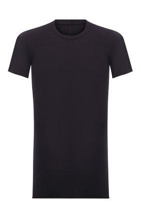 Мужская хлопковая футболка RICK OWENS темно-фиолетового цвета, арт. RU21S6251/JA | Фото 1