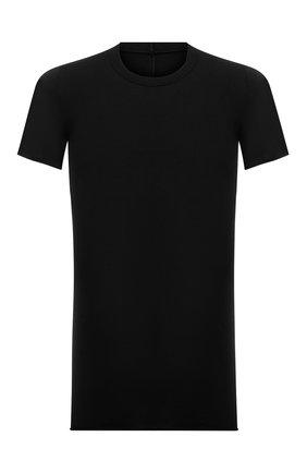 Мужская хлопковая футболка RICK OWENS черного цвета, арт. RU21S6251/JA | Фото 1
