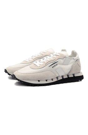 Мужские комбинированные кроссовки GHOUD бежевого цвета, арт. E11ERTLMWL03 | Фото 1