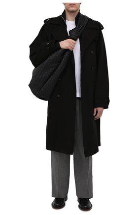 Мужская кожаная сумка BOTTEGA VENETA черного цвета, арт. 651830/V0E50 | Фото 2
