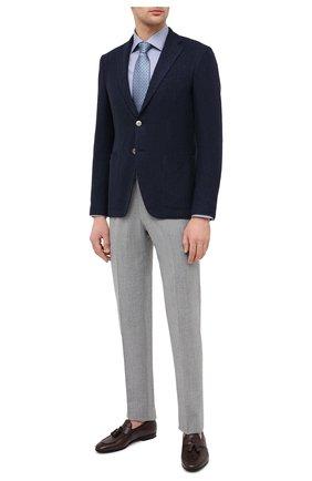 Мужская хлопковая сорочка ETON синего цвета, арт. 1000 01280   Фото 2