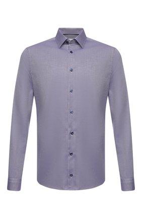 Мужская хлопковая сорочка ETON фиолетового цвета, арт. 1000 01753 | Фото 1 (Длина (для топов): Стандартные; Рукава: Длинные; Материал внешний: Хлопок; Случай: Формальный; Стили: Классический; Воротник: Кент; Рубашки М: Super Slim Fit; Манжеты: На пуговицах; Принт: Клетка)