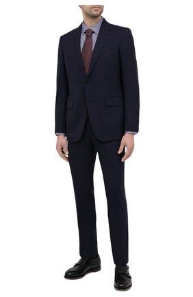 Мужская хлопковая сорочка ETON фиолетового цвета, арт. 1000 01753 | Фото 2 (Длина (для топов): Стандартные; Рукава: Длинные; Материал внешний: Хлопок; Случай: Формальный; Стили: Классический; Воротник: Кент; Рубашки М: Super Slim Fit; Манжеты: На пуговицах; Принт: Клетка)