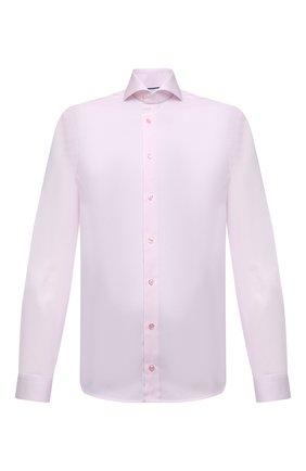 Мужская хлопковая сорочка ETON розового цвета, арт. 1000 01766 | Фото 1 (Длина (для топов): Стандартные; Материал внешний: Хлопок; Случай: Формальный; Принт: Клетка; Стили: Классический; Рукава: Длинные; Рубашки М: Super Slim Fit; Воротник: Акула; Манжеты: На пуговицах)