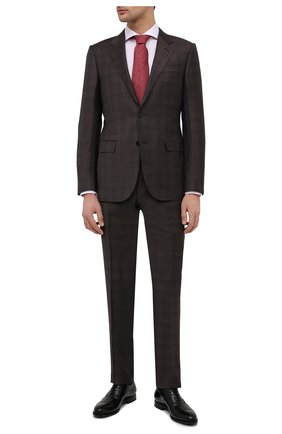 Мужская хлопковая сорочка ETON розового цвета, арт. 1000 01766 | Фото 2 (Длина (для топов): Стандартные; Материал внешний: Хлопок; Случай: Формальный; Принт: Клетка; Стили: Классический; Рукава: Длинные; Рубашки М: Super Slim Fit; Воротник: Акула; Манжеты: На пуговицах)