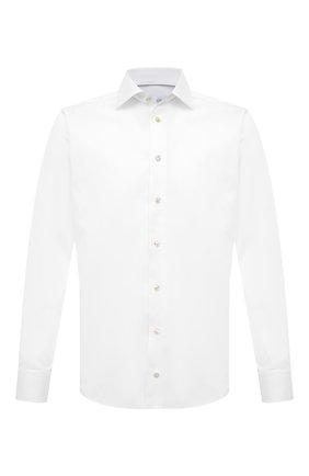Мужская хлопковая сорочка ETON белого цвета, арт. 1000 02077 | Фото 1 (Рукава: Длинные; Длина (для топов): Стандартные; Материал внешний: Хлопок; Случай: Формальный; Стили: Классический; Воротник: Кент; Рубашки М: Slim Fit; Манжеты: На пуговицах; Принт: Однотонные)