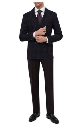 Мужская хлопковая сорочка ETON белого цвета, арт. 1000 02238 | Фото 2 (Длина (для топов): Стандартные; Рукава: Длинные; Материал внешний: Хлопок; Случай: Формальный; Стили: Классический; Воротник: Акула; Рубашки М: Regular Fit; Манжеты: На пуговицах; Принт: Однотонные)