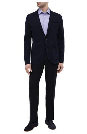 Мужская хлопковая сорочка ETON синего цвета, арт. 1000 02245   Фото 2