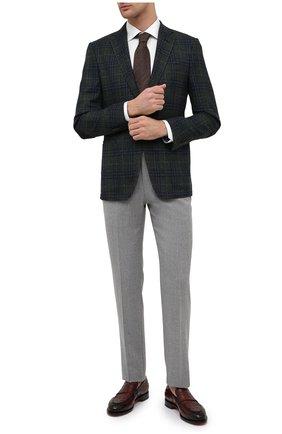Мужская хлопковая сорочка ETON белого цвета, арт. 1000 03019 | Фото 2 (Материал внешний: Хлопок; Длина (для топов): Стандартные; Рукава: Длинные; Случай: Формальный; Стили: Классический; Воротник: Акула; Рубашки М: Slim Fit; Манжеты: На пуговицах; Принт: Однотонные)