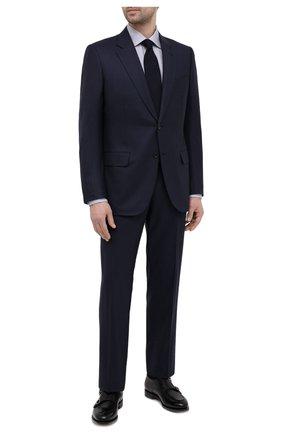 Мужская хлопковая сорочка ETON серого цвета, арт. 1000 03034 | Фото 2 (Длина (для топов): Стандартные; Материал внешний: Хлопок; Рукава: Длинные; Случай: Формальный; Стили: Классический; Воротник: Акула; Рубашки М: Regular Fit; Манжеты: На пуговицах; Принт: Клетка)