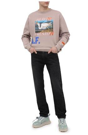Мужские текстильные кроссовки odsy mesh OFF-WHITE мятного цвета, арт. 0MIA179R21FAB0015172 | Фото 2 (Материал внутренний: Текстиль; Подошва: Массивная; Материал внешний: Текстиль; Стили: Гранж)