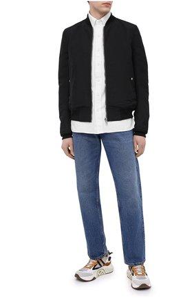 Мужская хлопковая рубашка TOM FORD белого цвета, арт. QFT090/94UDAN | Фото 2 (Материал внешний: Хлопок; Длина (для топов): Стандартные; Случай: Повседневный; Воротник: Button down; Принт: Однотонные; Рубашки М: Slim Fit; Стили: Кэжуэл; Рукава: Длинные; Манжеты: На пуговицах)