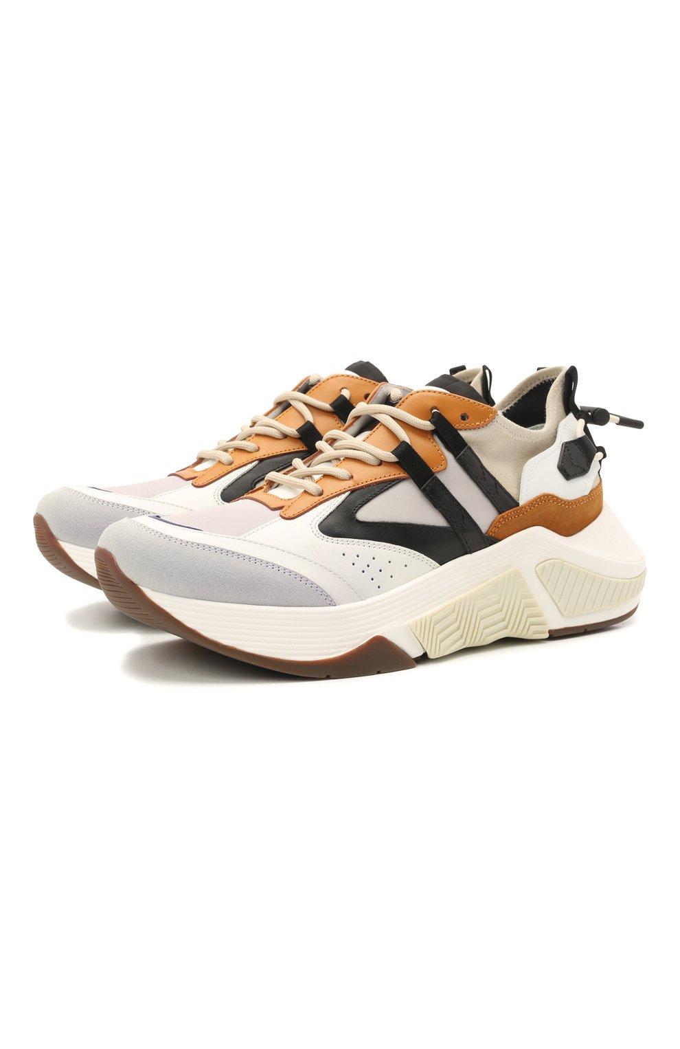 Мужские комбинированные кроссовки GIORGIO ARMANI разноцветного цвета, арт. X2X143/XM821 | Фото 1