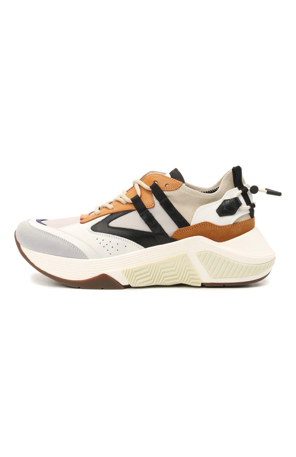 Мужские комбинированные кроссовки GIORGIO ARMANI разноцветного цвета, арт. X2X143/XM821 | Фото 3