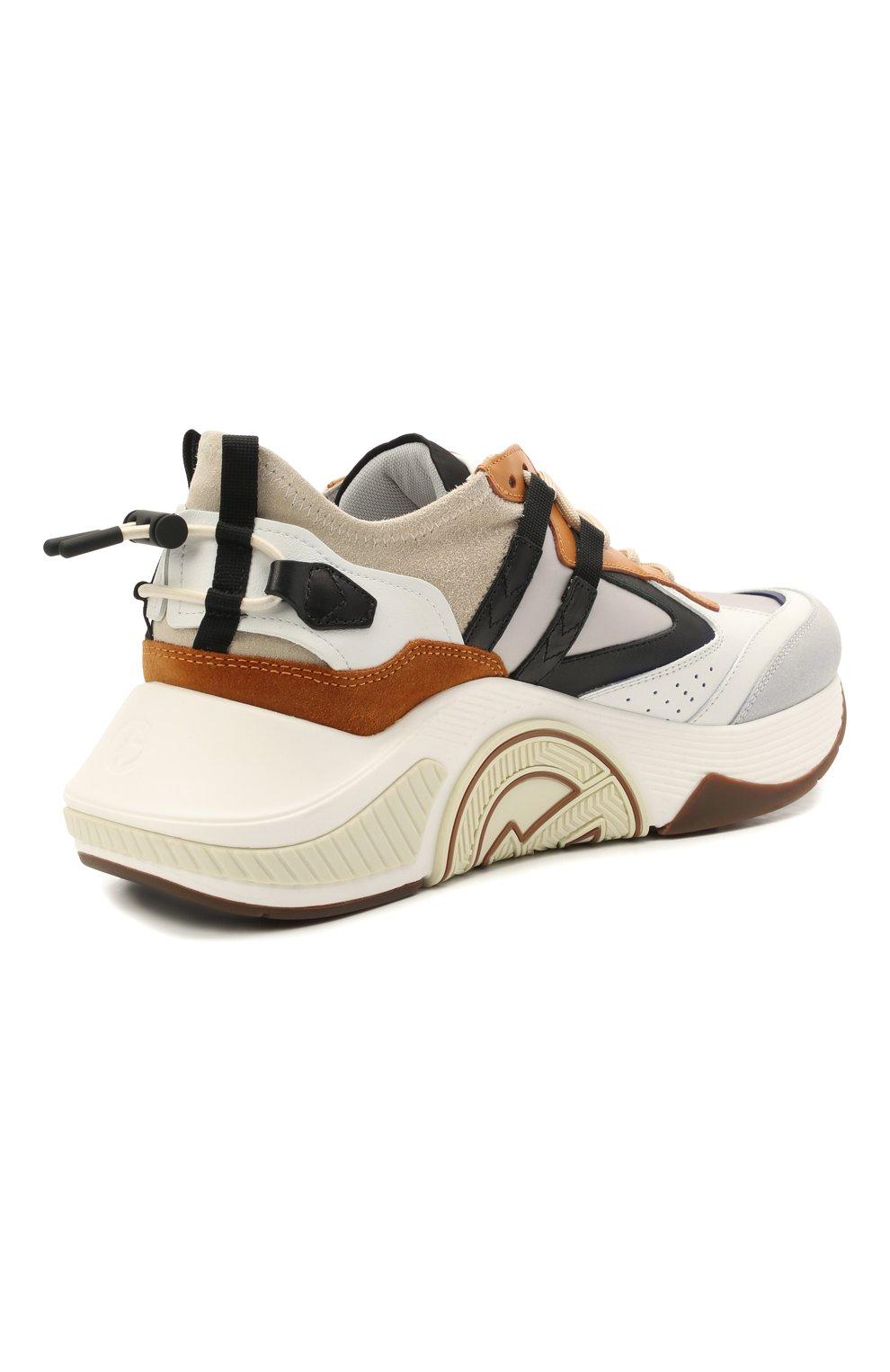 Мужские комбинированные кроссовки GIORGIO ARMANI разноцветного цвета, арт. X2X143/XM821 | Фото 4