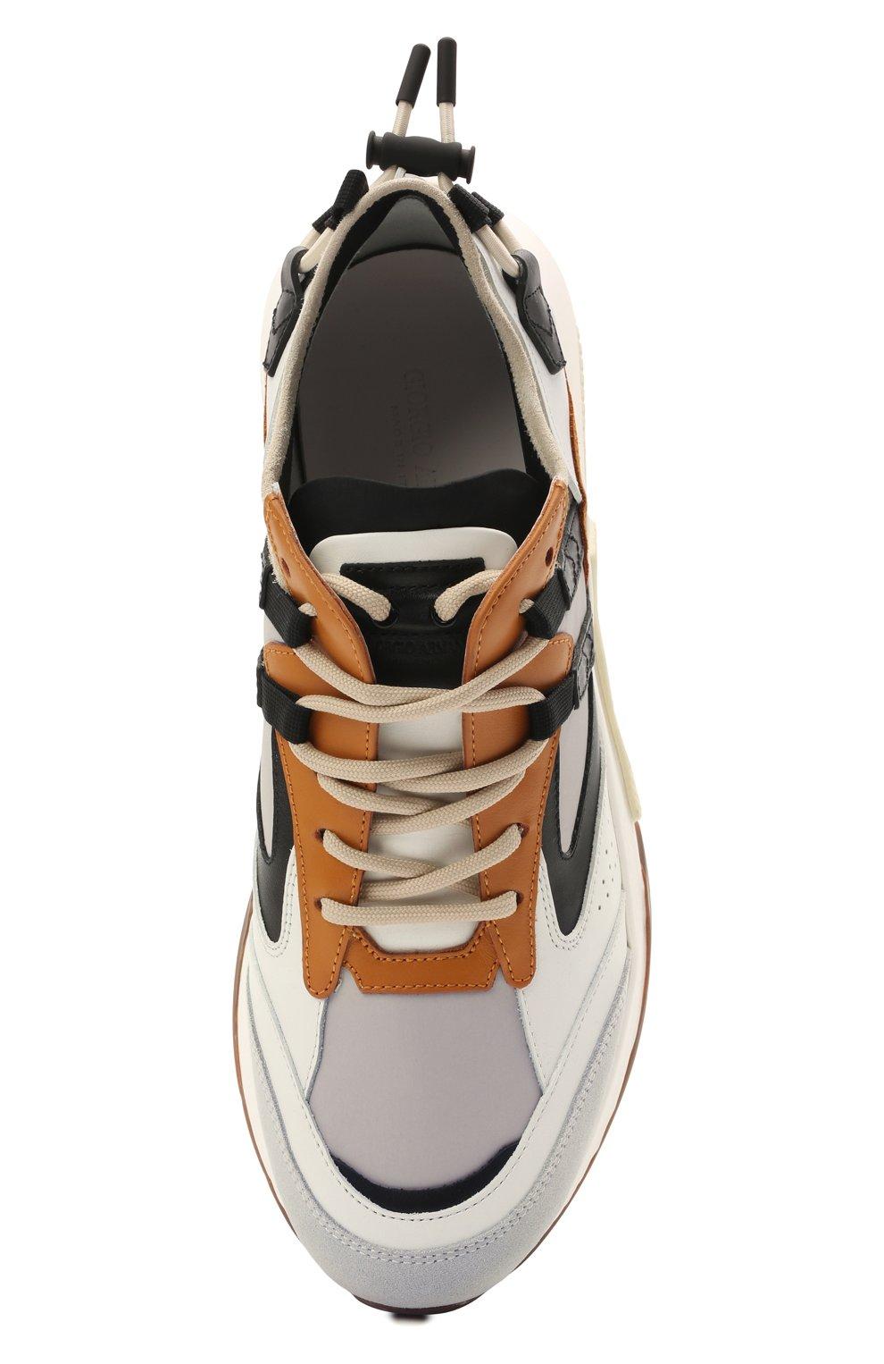 Мужские комбинированные кроссовки GIORGIO ARMANI разноцветного цвета, арт. X2X143/XM821 | Фото 5