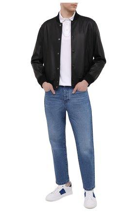 Мужские кожаные кеды BOGNER белого цвета, арт. 12120241/NIZZA 29 | Фото 2 (Материал внутренний: Натуральная кожа; Подошва: Массивная)