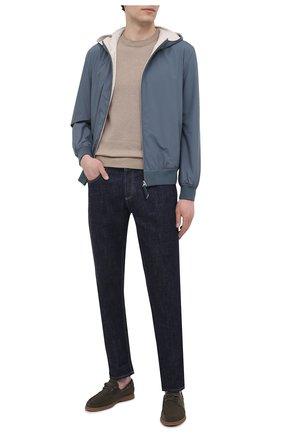 Мужской хлопковый свитер CANALI бежевого цвета, арт. C0775/MK01137   Фото 2