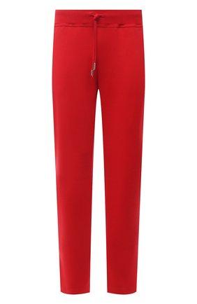 Мужские хлопковые брюки KITON красного цвета, арт. UK1261 | Фото 1 (Длина (брюки, джинсы): Стандартные; Материал внешний: Хлопок; Стили: Спорт-шик; Случай: Повседневный; Мужское Кросс-КТ: Брюки-трикотаж)