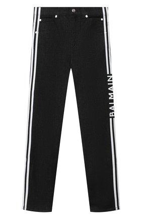 Детские джинсы BALMAIN черного цвета, арт. 6O6620   Фото 1