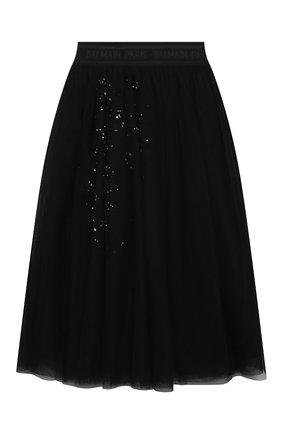 Детская юбка BALMAIN черного цвета, арт. 6O7030 | Фото 1
