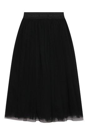 Детская юбка BALMAIN черного цвета, арт. 6O7030 | Фото 2