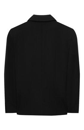 Детский шерстяной жакет BALMAIN черного цвета, арт. 6O2100 | Фото 2