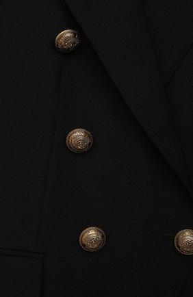 Детский шерстяной жакет BALMAIN черного цвета, арт. 6O2100 | Фото 3