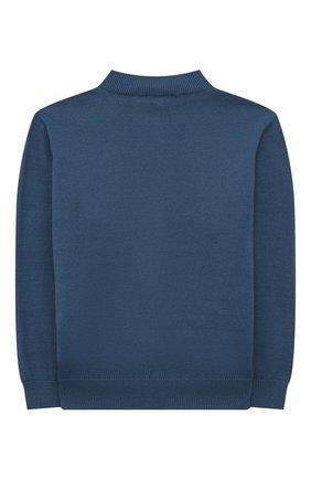 Детский хлопковый пуловер IL GUFO синего цвета, арт. P21MA352EM200/5A-8A | Фото 2